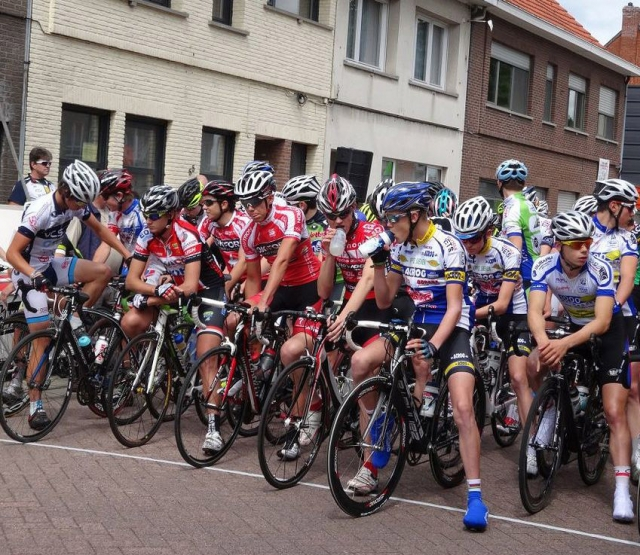 Team Rokform at the start of a Belgian kermesse