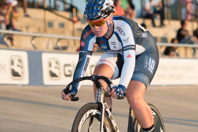 Jennifer Valente set three track records en route to her omnium win at the 2014 USA Cycling Elite Track National Championships in Rock Hill, S.C.
