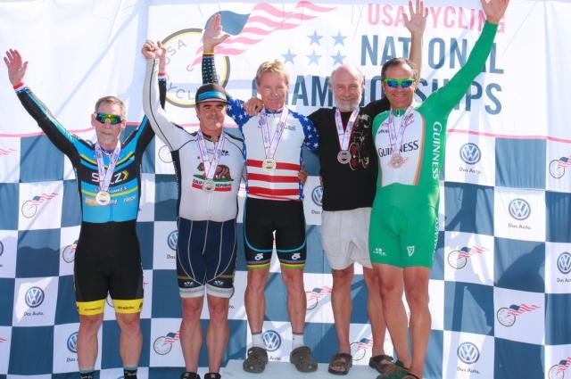 Men 60-64 time trial podium