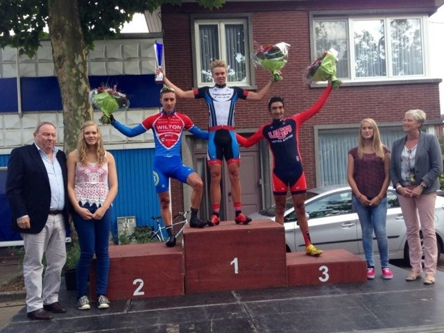 Michael Hernandez takes third at the Omloop Vlaamse Gewesten.