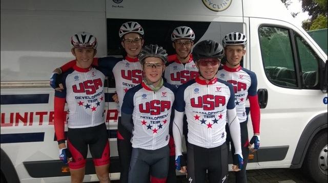 The 15-16 Camp B juniors at the West Vlaanderen Tour.