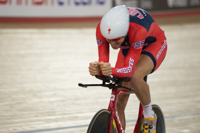 Bobby Lea leads the men's omnium standings after two legs.