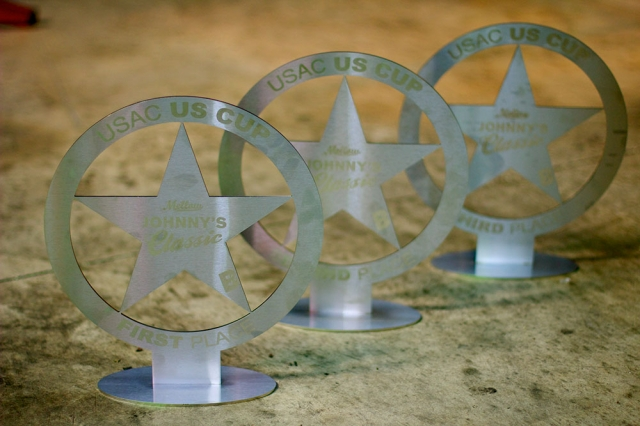 Baghouse has designed and fabricated the trophies for top riders at each round of the 2014 USA Cycling US Cup Pro Series presented by Sho-Air Cycling Group