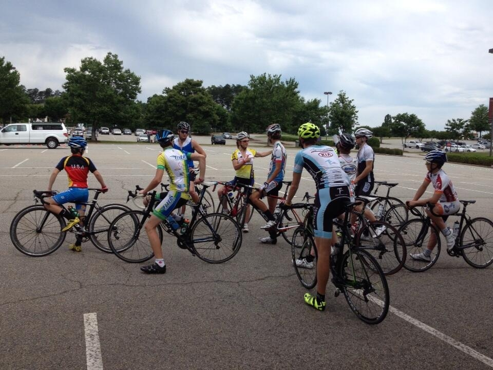 Campers learn bike skills in Greenville, S.C. at a 2013 Regional Talent ID Camp.
