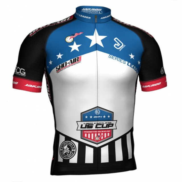 Jakroo Custom Cycling Apparel is providing the series leaders' and winners' jerseys for the 2014 USA Cycling US Cup Pro Series presented by Sho-Air Cycling Group