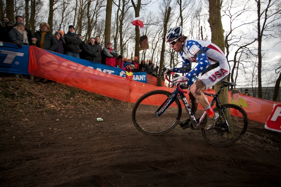 Jonathan Page was 18th in the elite men's race. Photo by Rob Jones