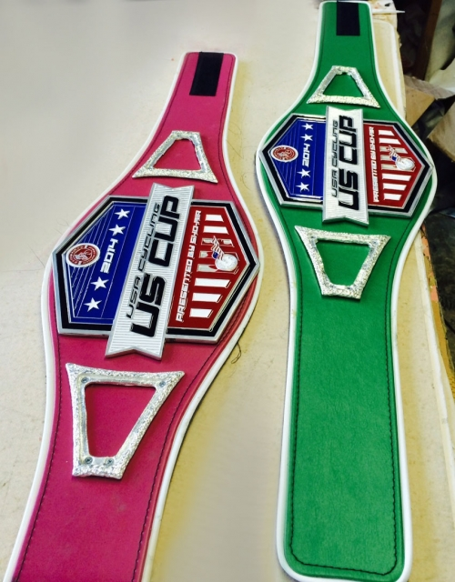 MMA-style championship belts to the series winners of the 2014 USA Cycling US Cup Pro Series presented by Sho-Air Cycling Group