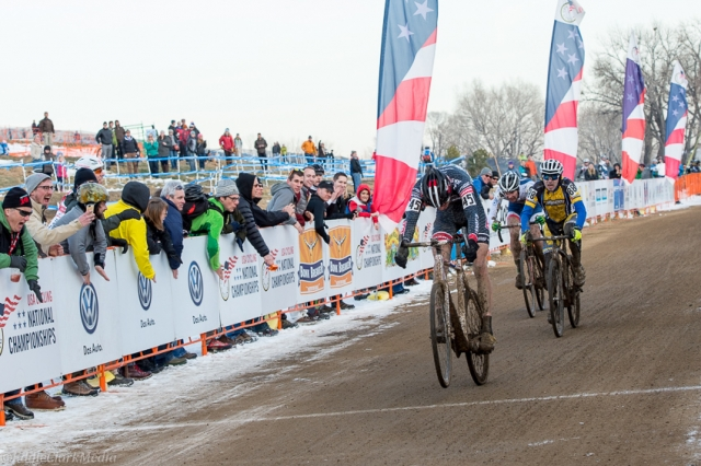 Braden Kappius sprinted and lunged his bike to claim second place in the men's singlspeed race