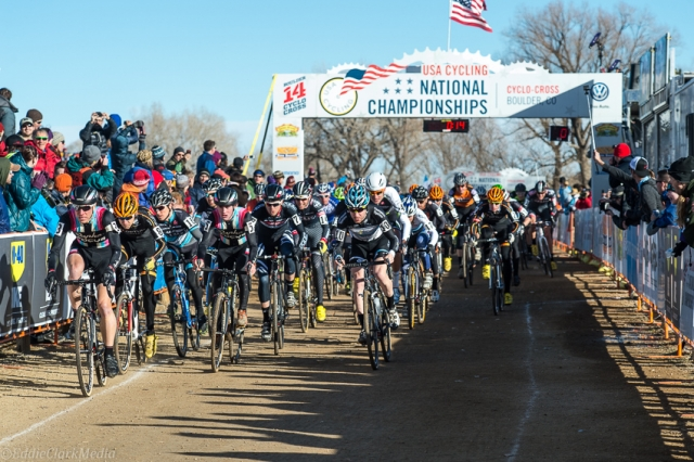 Jeremy Powers took the lead at the very start and never looked back
