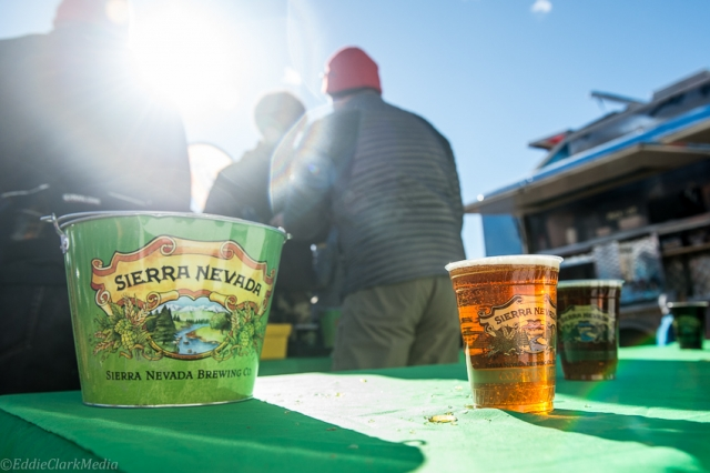 Two Sierra Nevada beer gardens kept the spectators happy