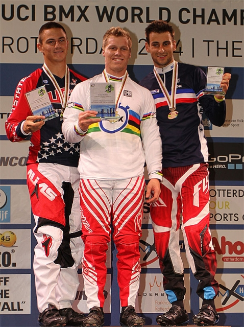Corben Sharrah (left) earned silver in the elite men's event.