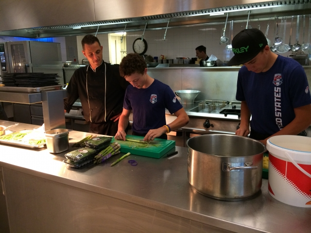 It is not just cycling for the Mountain Bike Development Race Camp. The riders took a cooking clinic in their spare time.
