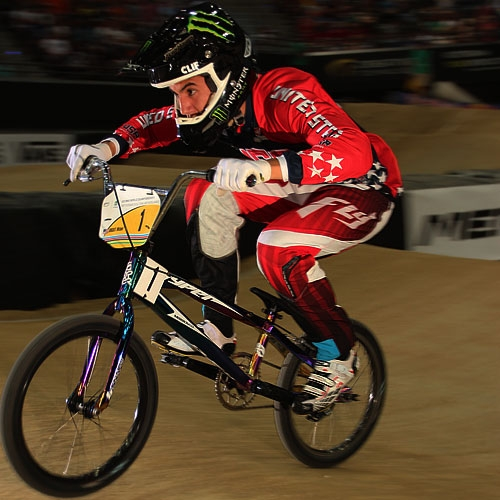 Michael Gonzales en route to his gold medal