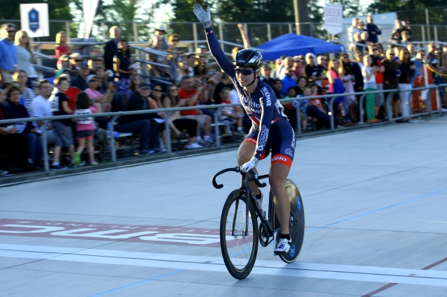 Tela Crane won the women's points race, scratch race and Madison, which moved her into fourth with 38 points.