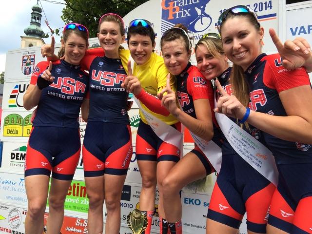 The women's U.S. team finished first at the Tour de Feminin in the Czech Republic.