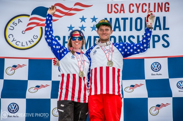 2014 pro dual slalom national champions Jill Kintner and Luca Cometti