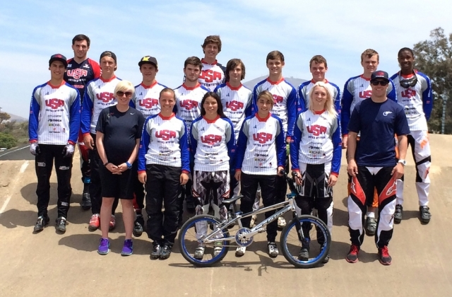 Campers at the May 31-June 7 BMX Development Camp in Chula Vista, Calif.