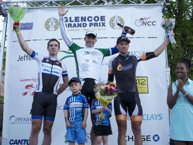 David Cueli, Bradley White and Anthony Canevari (l to r) took the podium at the 2014 Glencoe Grand Prix.