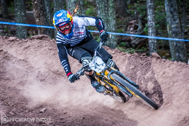 Jill Kintner has her eyes on the prize in the pro women's dual slalom final