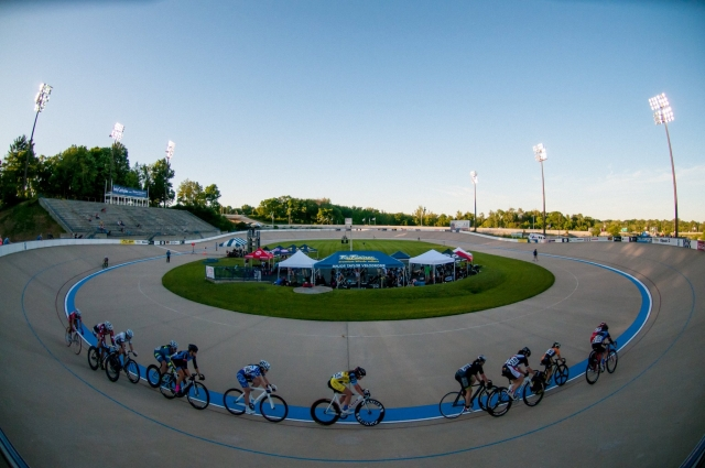 Riders make their turn at the Midwest Challenge.