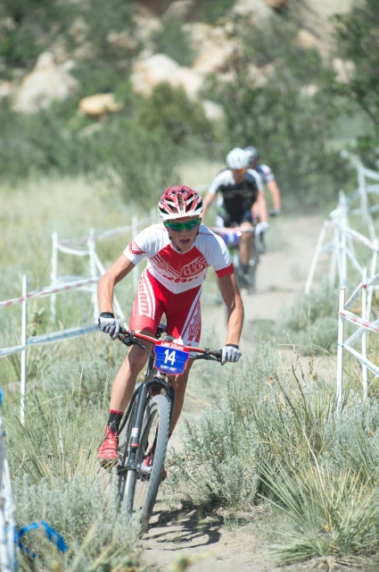 Russell Finsterwald rides in the US Cup Pro Series finale in Colorado Springs