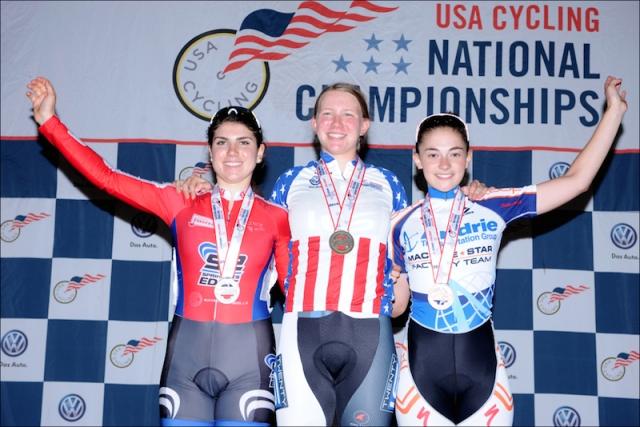 Women's 17-18 International Omnium podium.