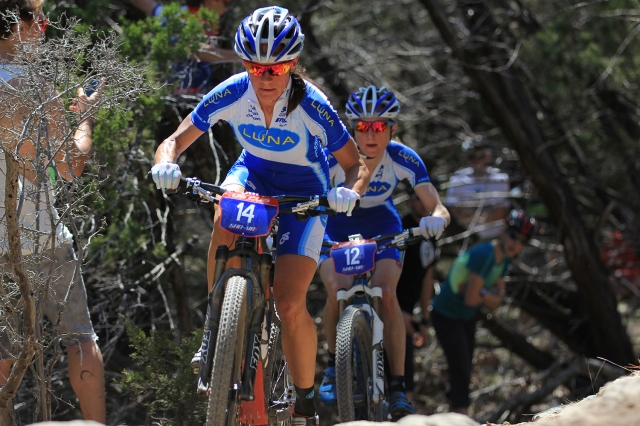 Luna teammates Katerina Nash and Catherine Pendrel were far ahead of the competition at the 2014 Mellow Johnny's Classic