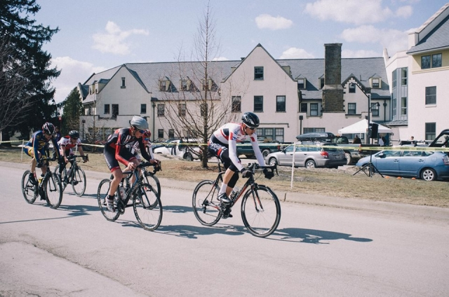 The winning breakaway during the Bard Criterium Men's A race.