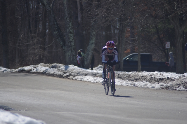 Zach Ulissi (MIT) rides to victory in the men's circuit race (Photo Credit: Scott Kapelewski)