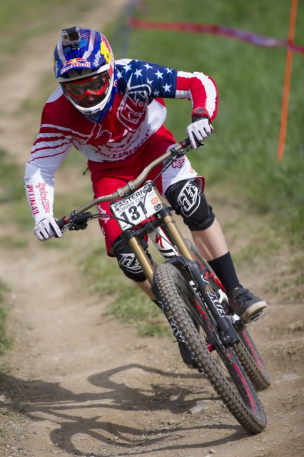 Aaron Gwin was looking focused and back to winning form all weekend.