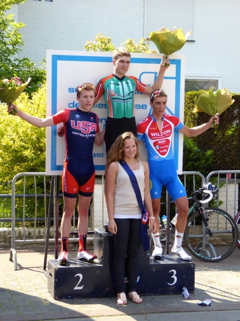 Austin Vincent placed second at the Ronde van Leishout race May 18.