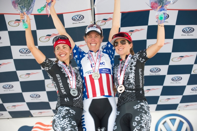 Carmen Small, Alison Powers and Evelyn Stevens will race at the 2014 world championships