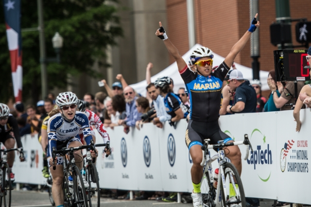 Coryn Rivera defends her criterium title in Richmond.