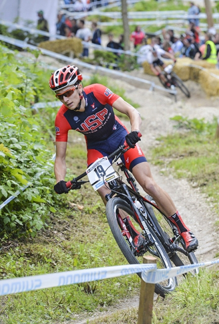 Neilson Powless placed 10th at the UCI Mountain Bike World Cup #4.