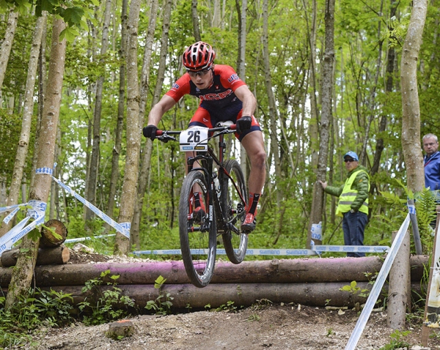 Sean Bennett placed 37th at the UCI Mountain Bike World Cup #4.