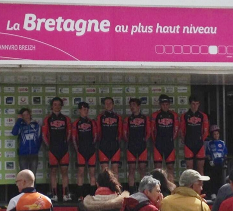 The U23 team at the 2014 Le Tour de Bretagne Cyclist