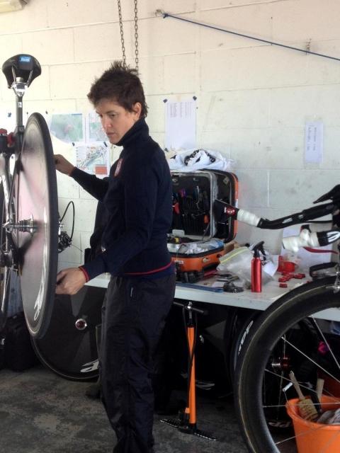 Bike mechanic Sara Jarrell