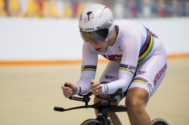 Hammer dons the rainbow stripes of a world champion