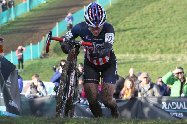 Katie Compton placed second at World Cup #3 and sits first in the women's standings