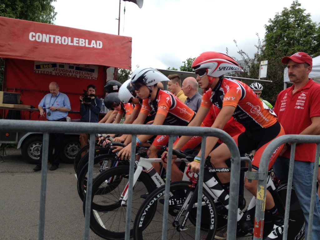 Team Rokform toes the line for a UCI stage race in Belgium.