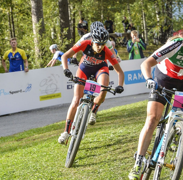 Kaylee Blevins was the highest placed American in the eliminator in 15th