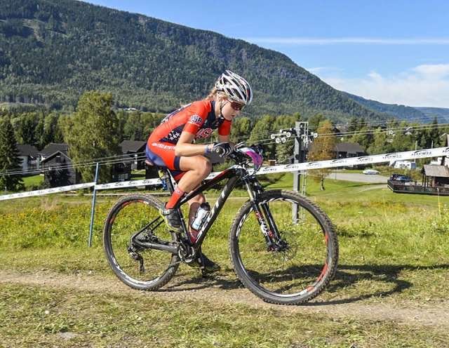 Ksenia Lepikhina in the junior women's XC