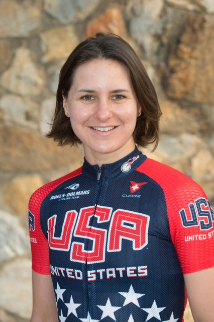 Megan Guarnier Worlds headshot 2014