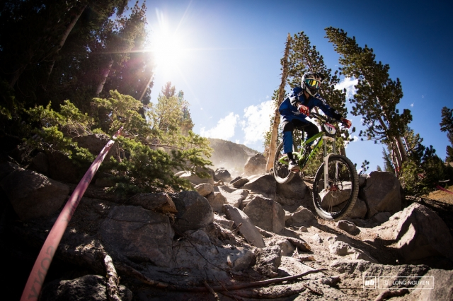 Tanner Stephens rides the upper rock garden at the Kamikaze Bike Games.