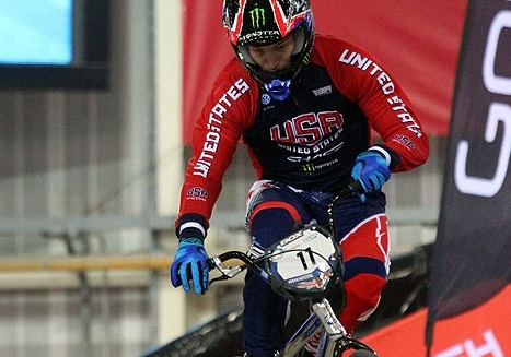 Fields, Stancil podium in time trial at BMX World Cup opener