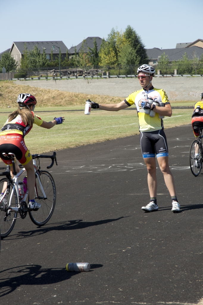 Campers learn a variety of important skills needed in a bike race.