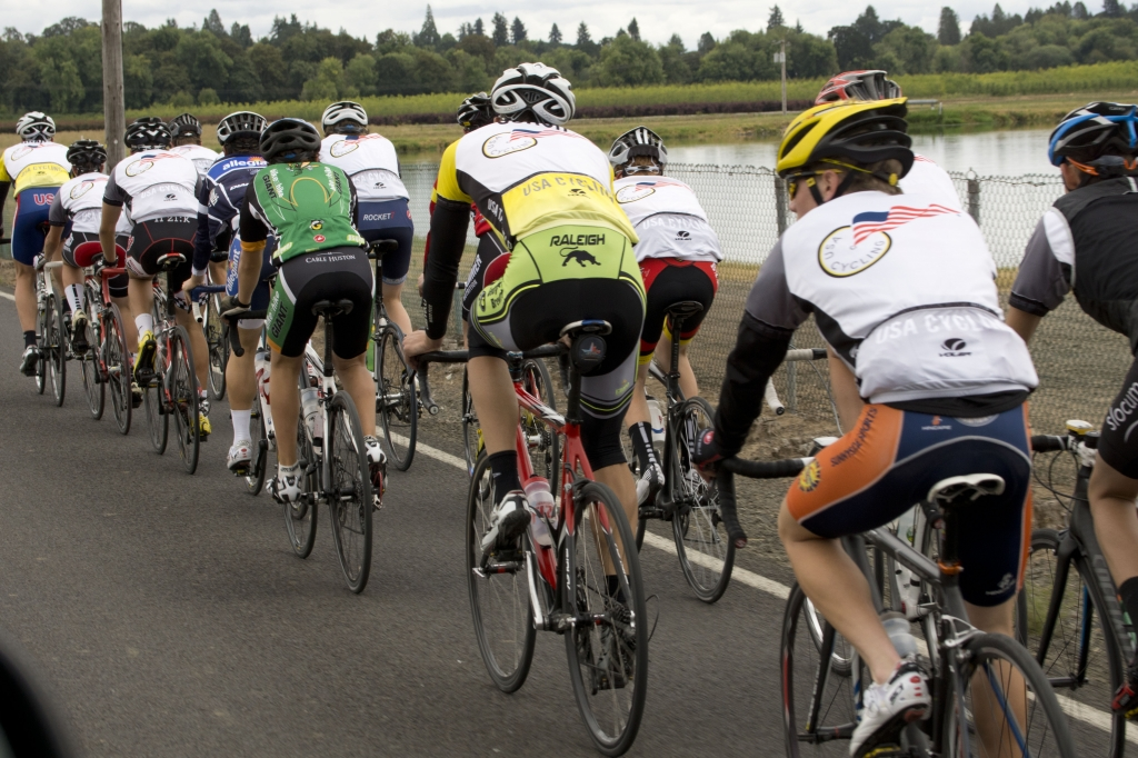 Participants at one of USA Cycling's road Talent ID Camps