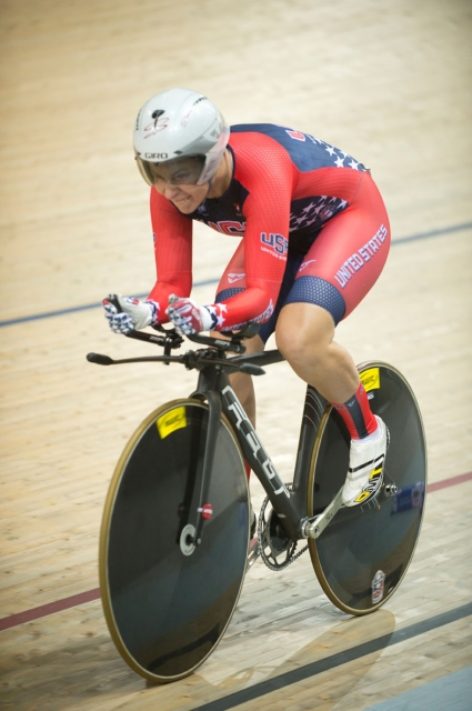 Hammer scored 126 points in the women's omnium for eighth place.