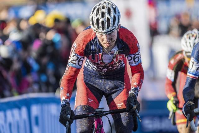 Logan Owen rides to 15th in the U23 men's race.