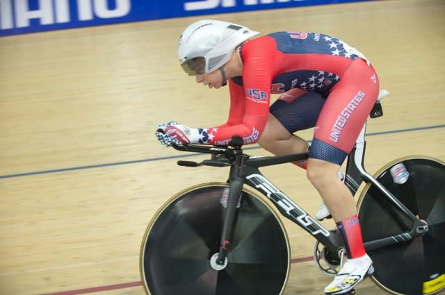 Sarah Hammer stands sixth in the women's omnium points standings after three events.